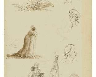Study of heads, figures, and foliage — Каспар Давид Фридрих