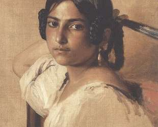 Study of Itlain girl — Франц Ксавер Винтерхальтер
