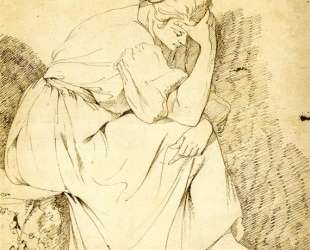Study of Melancholy Girl — Джозеф Райт