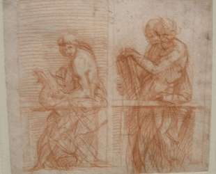 Study of the Figures behind a Balustrade — Андреа дель Сарто