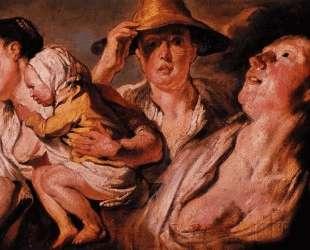 Study of three women and child — Якоб Йорданс