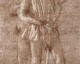Этюд двух стоящих фигур — Сандро Ботичелли