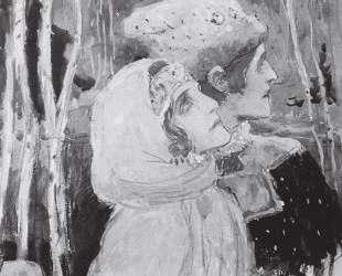 Рисунок для будущей картины 'Два лада' — Михаил Нестеров