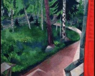 Задний двор летнего дома — Марк Шагал