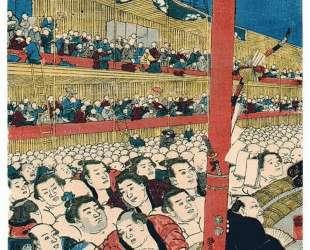 Sumo Spectators — Утагава Кунисада