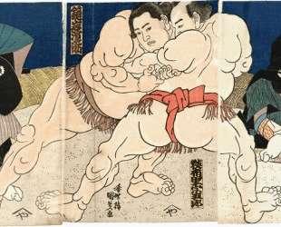 Sumo — Утагава Кунисада