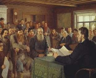 Воскресное чтение в сельской школе — Николай Богданов-Бельский