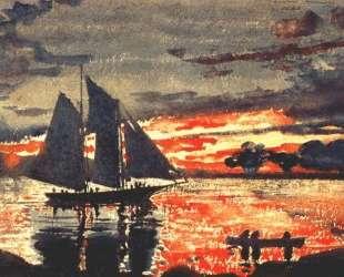 Sunset Fires — Уинслоу Хомер