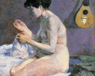 Сюзанна за шитьем — Этюд обнаженной — Поль Гоген