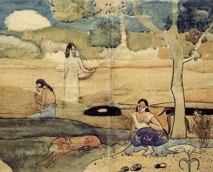Таитянская сцена — Поль Гоген