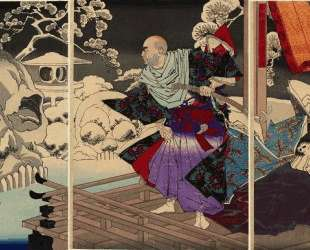 Taira no Kiyomori sees the skulls of his victims — Цукиока Ёситоси