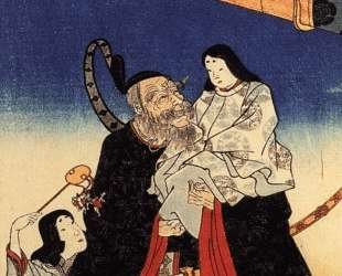 Takeuchi and the infant emperor — Утагава Куниёси