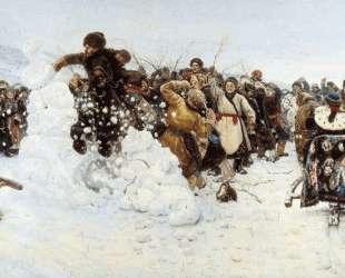 Взятие снежного городка — Василий Суриков