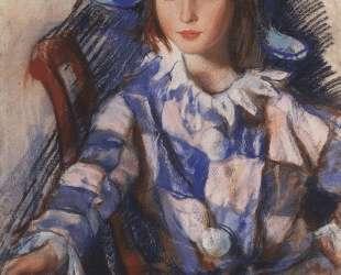 Портрет Таты в костюме Арлекина — Зинаида Серебрякова