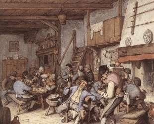 Tavern Interior — Адриан ван Остаде