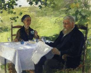 Tea on the Porch — Уиллард Меткалф