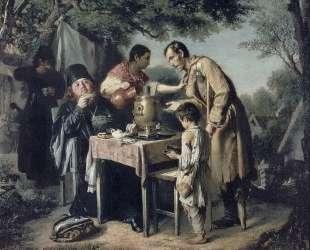 Чаепитие в Мытищах, близ Москвы — Василий Перов
