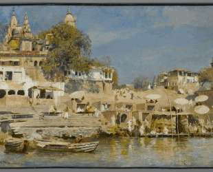 Temples and bathing ghat at Benares — Эдвин Лорд Уикс