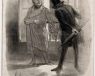 Арендатор и владелец — Оноре Домье