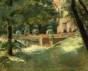 Terrace overlooking the flower garden in Wannsee — Макс Либерман
