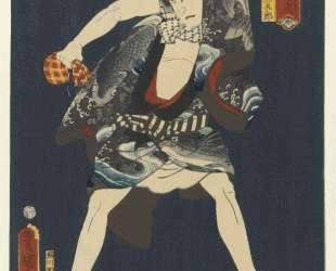 The Actor Ichikawa Kodanji IV as Subashiri no Kumagoro — Утагава Кунисада