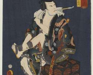 The Actor Kataoka Nizaemon VIII as Kumokiri Nizaemon — Утагава Кунисада