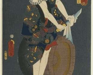 The Actor Kawarazaki Gonjuro I as Osarabakuzo Denji — Утагава Кунисада