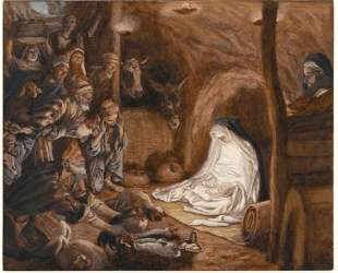 The Adoration of the Shepherds, illustration for 'The Life of Christ' — Джеймс Тиссо