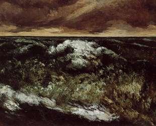 Сердитое море — Гюстав Курбе