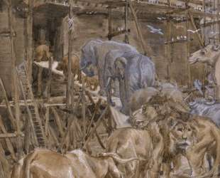 The Animals Enter the Ark — Джеймс Тиссо