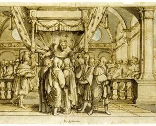 The Arrogance of Rehoboam — Ганс Гольбейн Младший