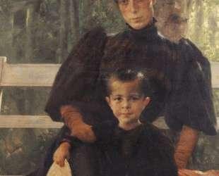 The Artist's Wife with Their Son — Георгиос Яковидис