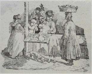 The asleep fishmonger — Теодор Жерико