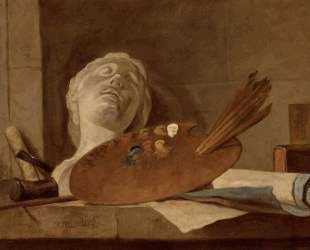 The Attributes of Painting and Sculpture — Жан Батист Симеон Шарден
