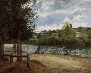 The Banks of the Oise at Pontoise — Камиль Писсарро