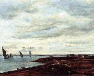 Берега Темзы — Шарль-Франсуа Добиньи
