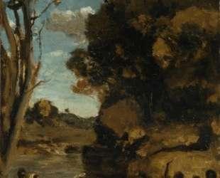 Крещение Христа (этюд) — Камиль Коро