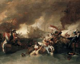 The Battle of La Hogue, Destruction of the French fleet, May 22, 1692 — Бенджамин Уэст