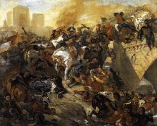 Битва при Тайбуре (эскиз) — Эжен Делакруа