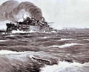 The Battle of Tsushima. Last minutes of battleship Prince Suvorov. — Иван Владимиров