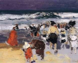 The Beach at Biarritz (sketch) — Хоакин Соролья