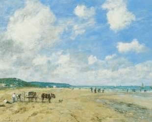 The beach at Deauville — Эжен Буден