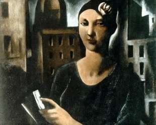 The Beauty Of Sestiere. Woman With Flower — Марио Сирони