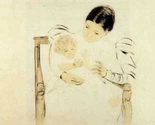 Босоногий ребенок — Мэри Кассат