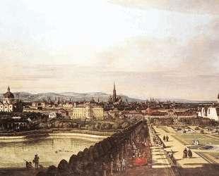 The Belvedere from Gesehen, Vienna — Бернардо Беллотто