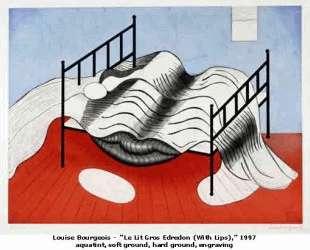 Большая кровать с покрывалом — Луиза Буржуа