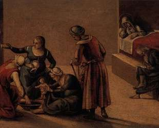 The Birth of the Virgin — Андреа дель Сарто