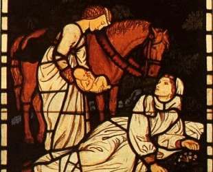 The Birth of Tristan, from 'The Story of Tristan and Isolde' — Артур Хьюз