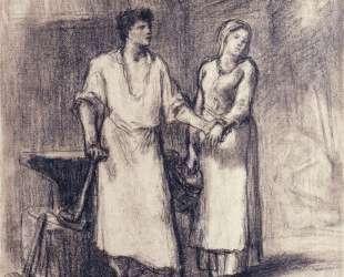 Кузнец и его невеста — Жан-Франсуа Милле