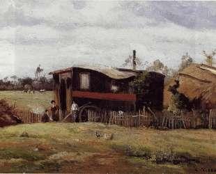 The bohemian's wagon — Камиль Писсарро